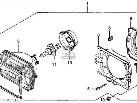 Honda VF750F INTERCEPTOR 1983 (D) USA parts lists and