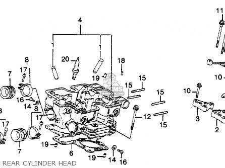 Honda Vf750f Interceptor 1983 (d) Usa parts list