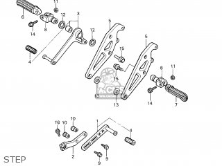 Honda VF750F INTERCEPTOR HRC parts lists and schematics