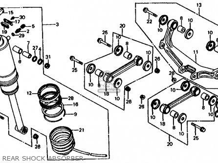 Honda VF750S SABRE 1983 (D) USA parts lists and schematics