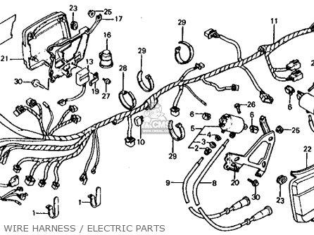 Honda Vf750s Sabre 1983 (d) Usa parts list partsmanual