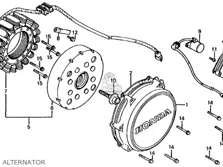 Honda Vf750s V45 Sabre 1982 Usa parts list partsmanual
