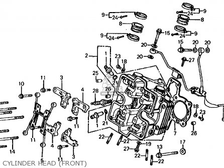 Honda Vf750s V45 Sabre 1983 (d) Usa parts list partsmanual
