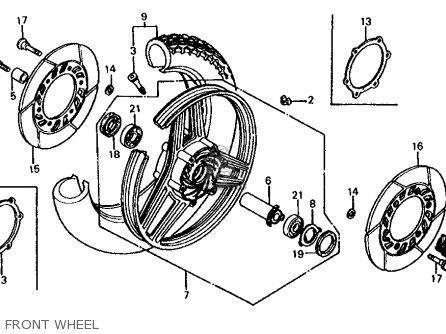 Honda Vf750s V45 Sabre 1983 (d) Usa parts list partsmanual