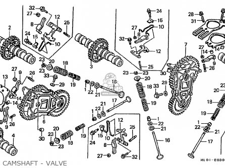 Honda VFR400R 1986 (G) JAPAN parts lists and schematics