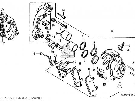 Honda Vfr400r 1986 (g) Japan parts list partsmanual partsfiche
