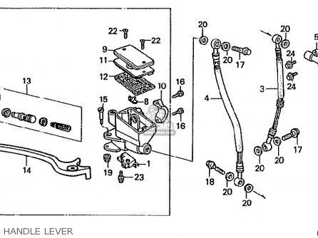 Honda Vfr400r 1986 (g) Japan parts list partsmanual partsfiche