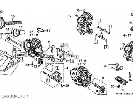 Honda VFR400R 1987 (H) JAPAN parts lists and schematics