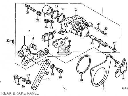 Honda Vfr400r 1987 (h) Japan parts list partsmanual partsfiche
