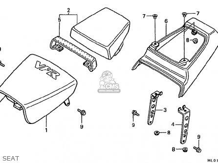 Honda Vfr400r 1987 (h) Japan parts list partsmanual partsfiche