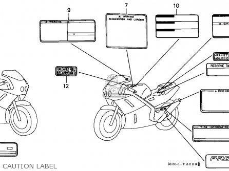Honda VFR400R3 1990 (L) ENGLAND parts lists and schematics