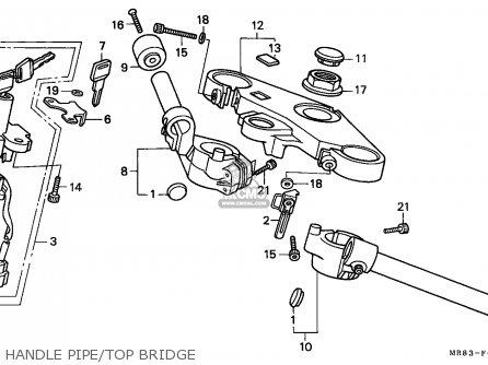 Honda Vfr400r3 1990 (l) England parts list partsmanual