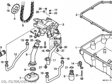 Honda Vfr400r3 1990 (l) England parts list partsmanual