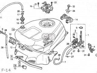Honda VFR400R3 1990 (L) JAPAN NC30-105 parts lists and