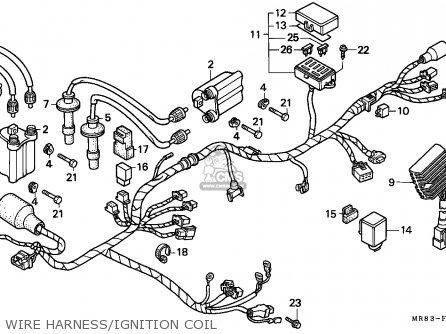 Honda Vfr400r3 1991 Austria parts list partsmanual partsfiche