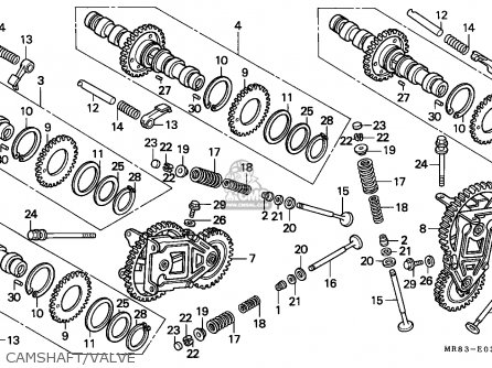 Honda Vfr400r3 1991 (m) France / Yb parts list partsmanual