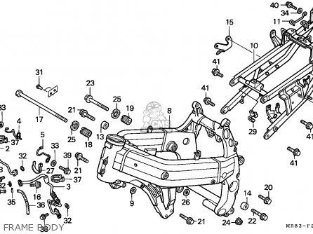 Honda VFR400R3 1991 (M) FRANCE / YB parts lists and schematics