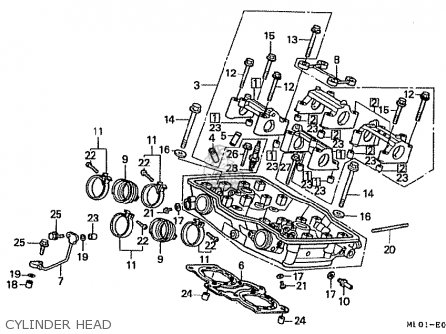 Honda Vfr400rh 1987 (japanese Home Market) parts list