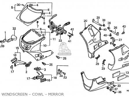 Honda VFR400RII NC24-100 1987 (H) JAPAN parts lists and