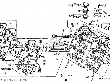 Honda Vfr400riii Nc24-102 1988 (j) Japan parts list