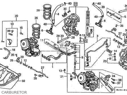 Honda Vfr400rj-iii 1988 (japanese Home Market) parts list