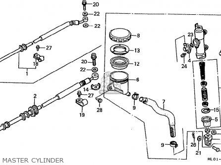 Honda Vfr400rj-iii 1988 (japanese Home Market) parts list