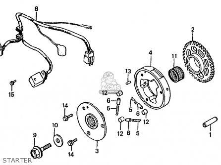 Honda VFR400Z 1986 (G) JAPAN parts lists and schematics