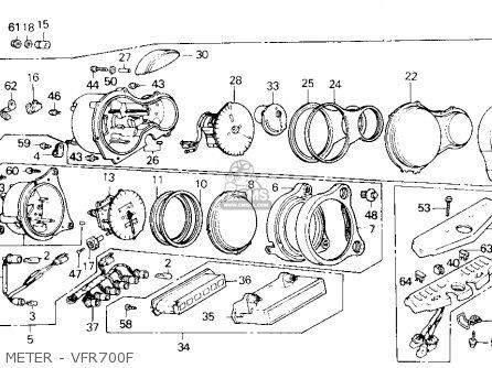 Honda Vfr700f Interceptor 1986 Usa parts list partsmanual