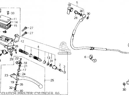 Honda Vfr700f2 Interceptor 1986 Usa parts list partsmanual