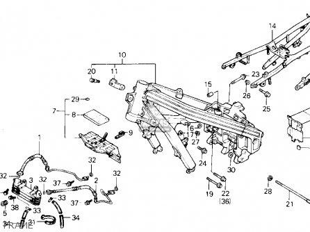 Honda VFR700F2 INTERCEPTOR 1987 (H) USA CALIFORNIA parts