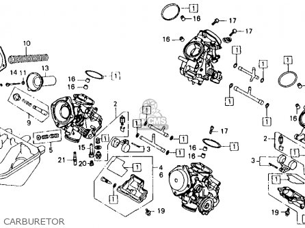 Honda Vfr750f 1986 750 Interceptor Usa parts list