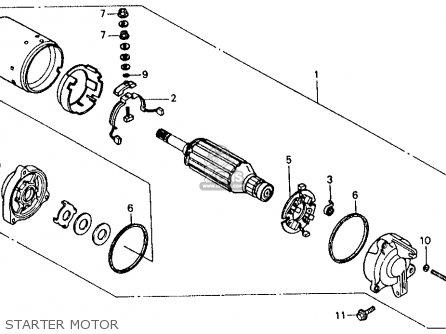 Honda Vfr750f 1986 750 Interceptor Usa parts list