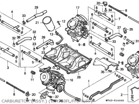 Honda Vfr750f 1990 France / Yb parts list partsmanual