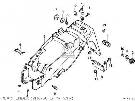 Honda VFR750F 1990 (L) AUSTRALIA parts lists and schematics