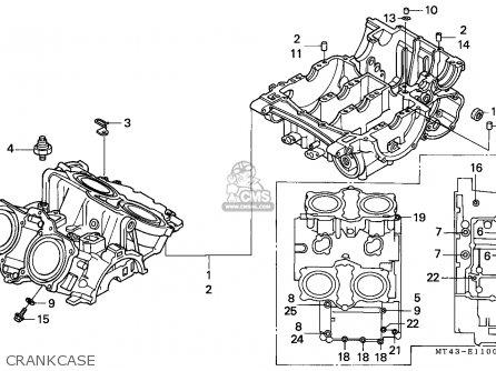 Honda Vfr750f 1990 (l) England parts list partsmanual
