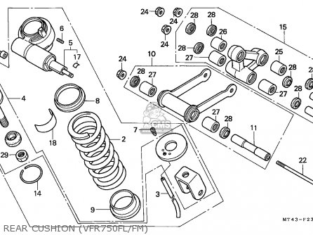 Honda VFR750F 1990 (L) ENGLAND parts lists and schematics