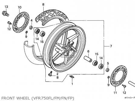 Honda VFR750F 1990 (L) FINLAND parts lists and schematics