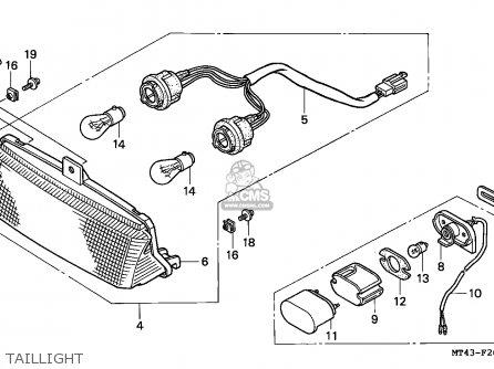 Honda VFR750F 1990 (L) FRANCE / YB parts lists and schematics