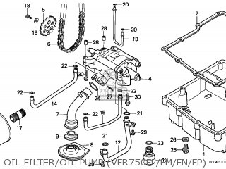 Honda Vfr750f 1990 (l) Switzerland parts list partsmanual