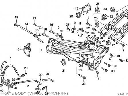Honda Vfr750f 1991 Germany parts list partsmanual partsfiche