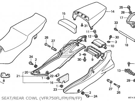 Honda Vfr750f 1991 Italy parts list partsmanual partsfiche