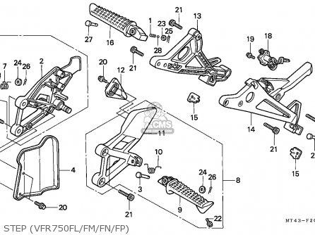 Honda VFR750F 1991 (M) ITALY parts lists and schematics