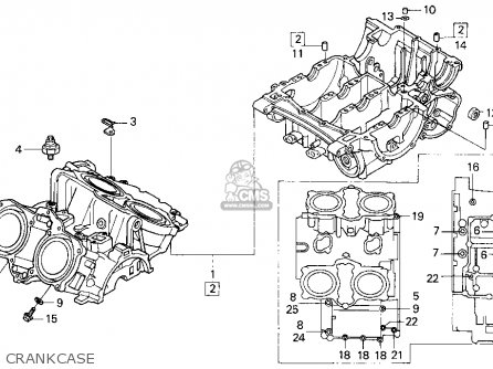 Honda VFR750F 1991 (M) USA CALIFORNIA parts lists and