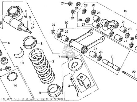 Honda Vfr750f 1991 Usa parts list partsmanual partsfiche