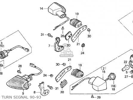 Honda Vfr750f 1991 Usa parts list partsmanual partsfiche