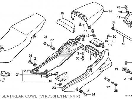 Honda VFR750F 1993 (P) ENGLAND parts lists and schematics