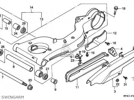 Honda Vfr750f 1993 (p) England parts list partsmanual