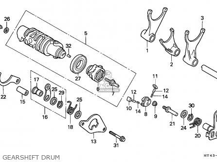 Honda Vfr750f 1993 (p) France parts list partsmanual