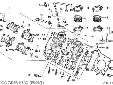 Honda Vfr750f 1994 (r) England parts list partsmanual