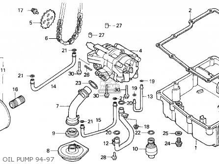 Honda Vfr750f 1994 (r) Usa California parts list